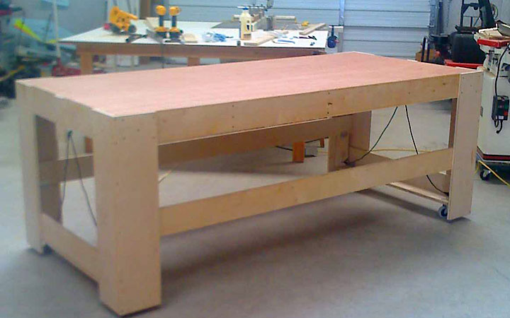 rolling work table woodworking plans