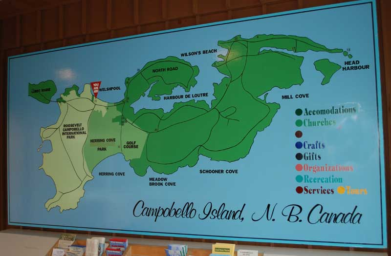 Campobello Island Pictures Campobello Island Tourist Map