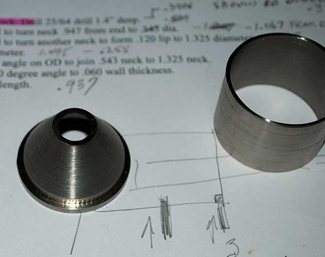 Cone and spacer separated