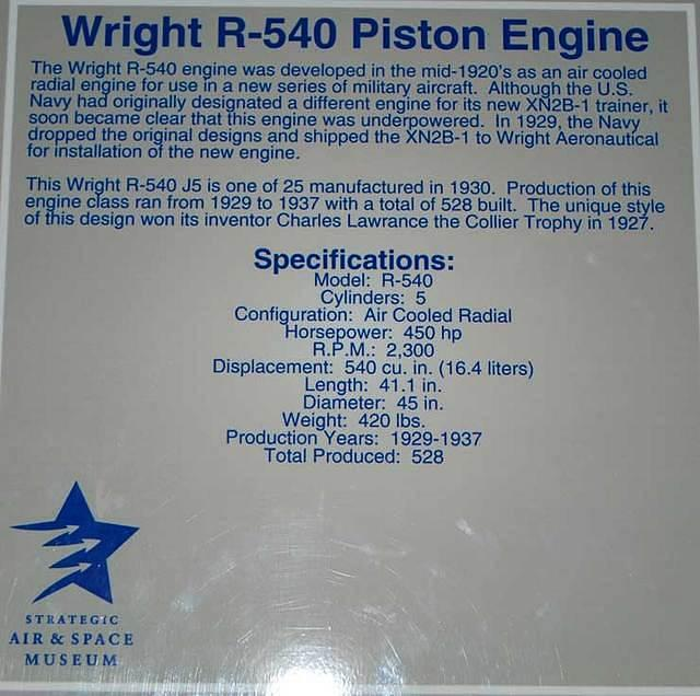 R-540 engine factoid