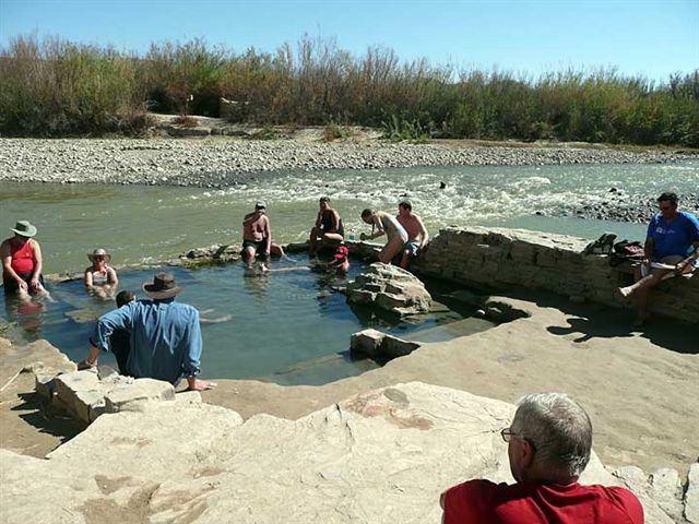 The Hot Springs located on the Rio Grande in the south east part of the park
