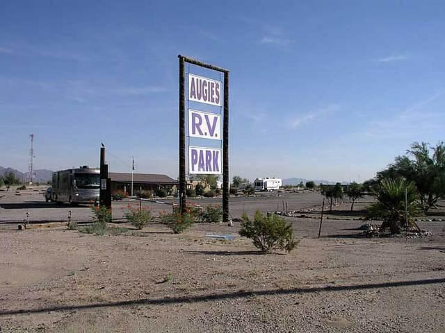 Augie's Quail Trail RV Park, Gila Bend, AZ entrance