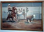 Calf roping competition painting