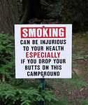 Lakeside Campground sign - don't you love it!